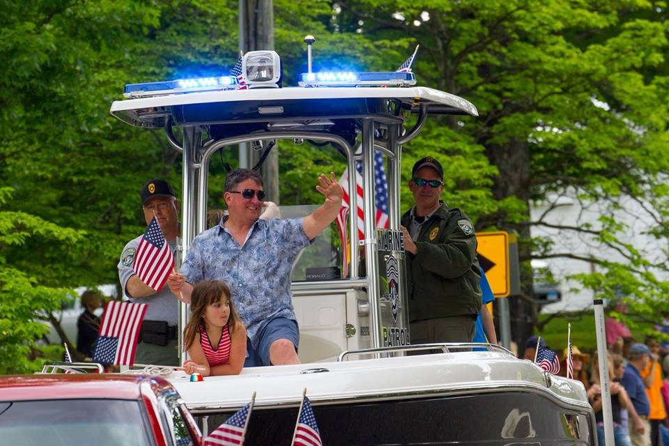 Larry Marsicano represents the Candlewood Lake Authority in the Sherman Memorial Day parade
