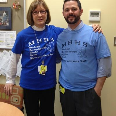 Ms. Sarah McLain (left) retires as MHHS Principal this year. Mr. James Mandracchia (right), current Assistant Principal at MHHS will be stepping in as MHHS Principal.