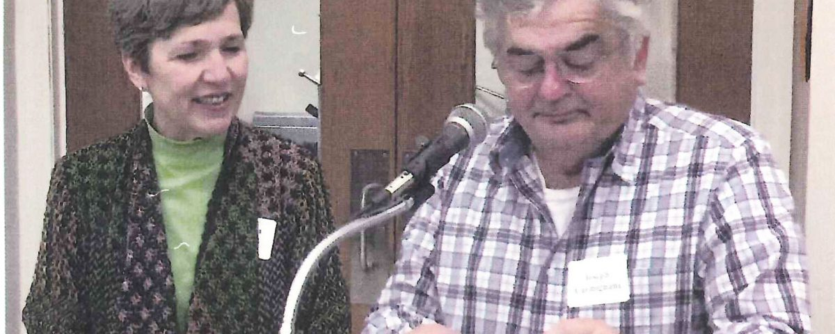 New Fairfield Resident Joe Carmignani, 71, worked with volunteer Pat Landry at the NF Library every week starting in 2016.