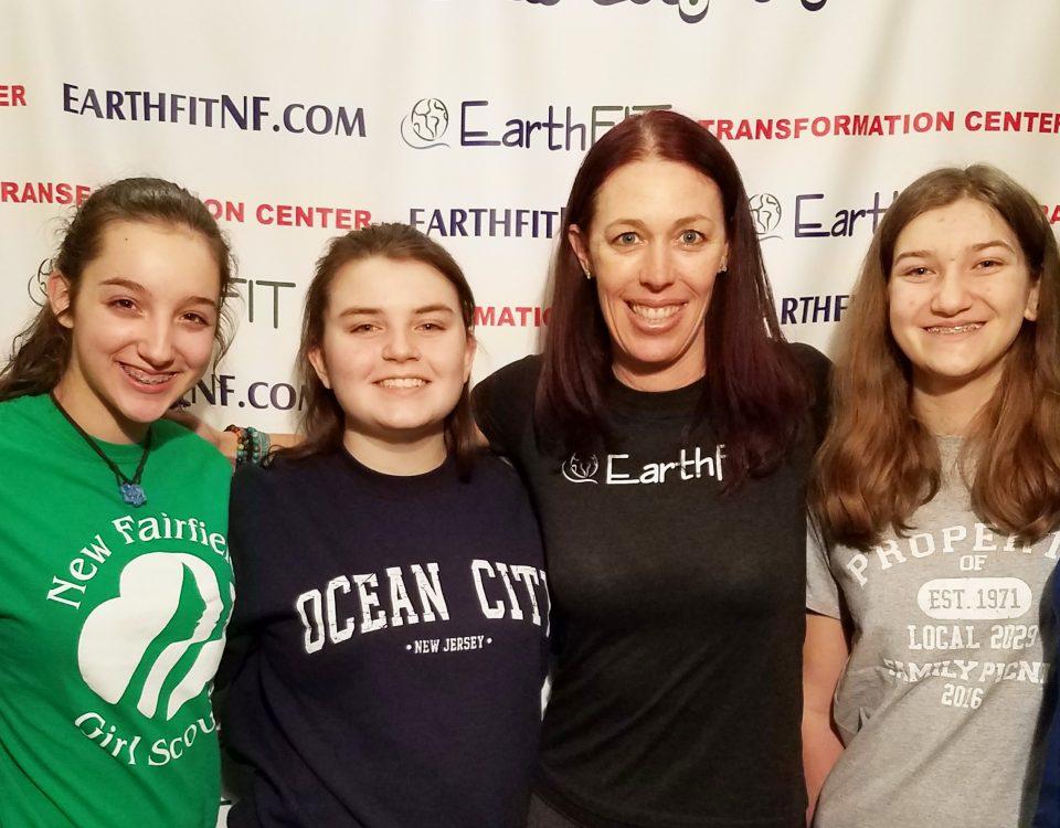 Senior scouts, Annie, Elizabeth, Emma, Paige, Gillian, with Seana.