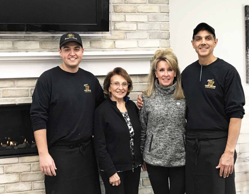 Family members: Joe Petrone, Concetta Biele, Kori and Johnny Petrone are ready for the grand opening!    Photo by Marylou Schirmer