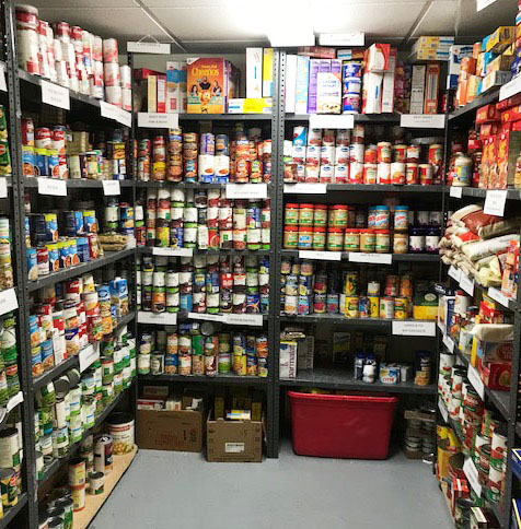 New Fairfield's recently-stocked food pantry