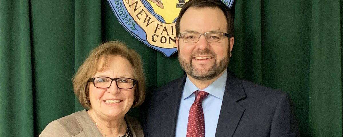 NF Superintendent Dr. Patricia Cosentino and incoming HS Principal James D'Amico