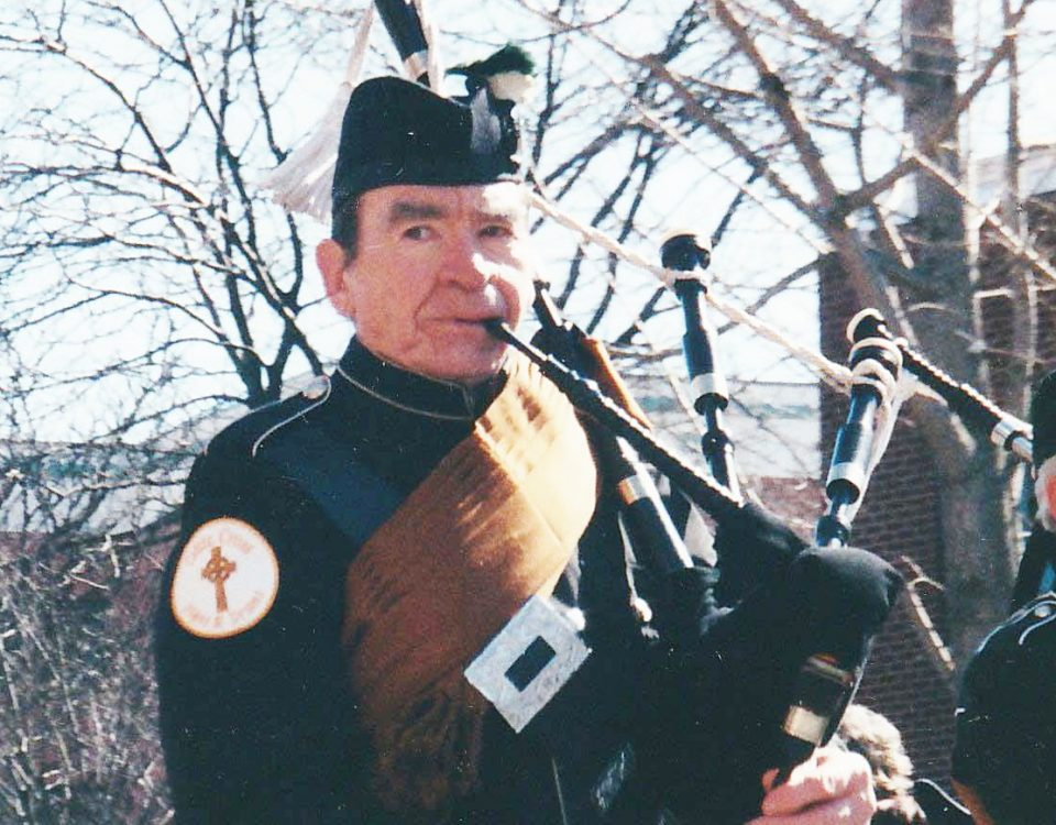 Peter Hearty marching in the 2001 New Fairfield St. Patrick's Day Parade.           Contributed Photo